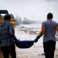 Watch: Actor Randeep Hooda teams up with environmental activist Afroz Shah for a cleanliness drive