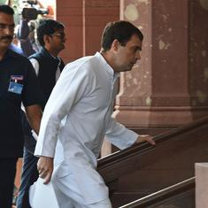 Rahul Gandhi claims small and medium firms have been 'destroyed', large companies under heavy stress