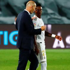 Zinedine Zidane says Vinicius Jr's Covid-19 test was false positive as Brazilian is picked in squad