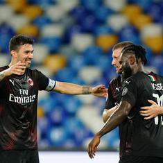 Serie A: Milan's hopes of European football alive after draw with Napoli, Sampdoria earn crucial win