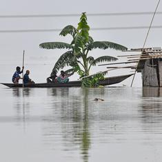 What counts as a catastrophic flood in the Brahmaputra river basin now?