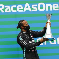 Formula 1: Lewis Hamilton equals another Michael Schumacher record in Hungarian GP hat-trick win
