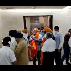 Watch: The first delegation of eleven repatriated Afghan Sikhs arrive in Delhi
