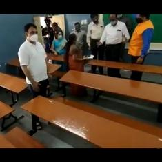 Watch: Karnataka's Deputy CM inspects exam venue to check if Covid-19 guidelines are being followed