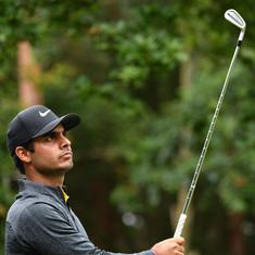 Golf: Shubhankar Sharma fighting to make cut, Sebastian Garcia Rodriguez leads at Hero Open
