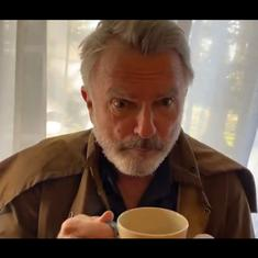 Watch: Actor Sam Neill turns into a cat in this funny quarantine short film 'Das Farmilee'