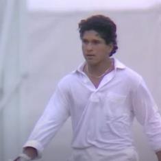 Watch: Sachin Tendulkar's first international hundred, a Test-saving knock on 1990 tour of England
