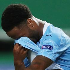 Watch: Raheem Sterling's misses an absolute sitter as Man City are knocked out of Champions League