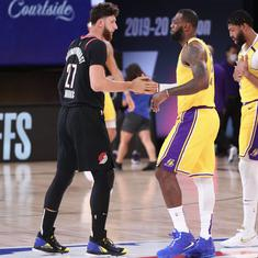 NBA wrap: Blazers stun Lakers, Magic upset Bucks to draw first blood in playoff ties