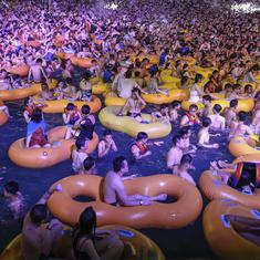 Chinese state media defends images of Wuhan pool party, claim they show life has returned to normal