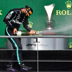 Formula One: Lewis Hamilton closes in on Michael Schumacher's record with win in Belgian Grand Prix