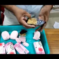 Watch: Gold found hidden in Lux soap bars, seized at Tiruchirappalli airport in Tamil Nadu