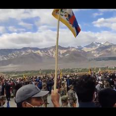 Watch: Elaborate funeral for Special Frontier Force Commando Nyima Tenzin in Leh