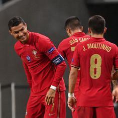 Uefa Nations League: Ronaldo breaches 100-goal mark for Portugal with double, France beat Croatia