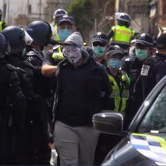Watch: Police arrest protestors during anti-lockdown demonstration in Melbourne, Australia