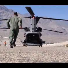 Watch: Clips from India's ramped-up military operations in Ladakh as China tensions escalate