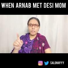 Watch: Comedian Saloni Gaur's desi mother persona 'talks' to Arnab Goswami about actor Salman Khan