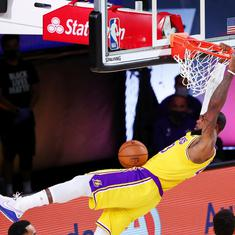 NBA: Anthony Davis, LeBron James help Lakers subdue Nuggets in Western Conference finals opener