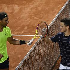 Italian Open: Nadal stunned by Schwartzman in straight sets, frustrated Djokovic battles through