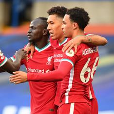 Premier League: Mane double helps Liverpool beat ten-man Chelsea; Son scores four in Spurs victory