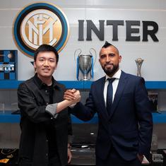 Midfielder Arturo Vidal joins Inter Milan from Barcelona for a fee of $1.17 million