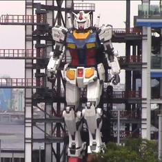 Watch: This factory in Yokohoma, Japan is testing its 60-foot-tall Gundam robot