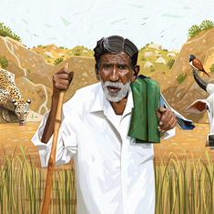 In Karnataka, a shepherd has spent all his money to dig ponds for birds and wild animals