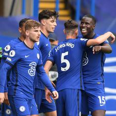 Premier League: Chelsea thump Crystal Palace; James stars as Everton beat Brighton to go top