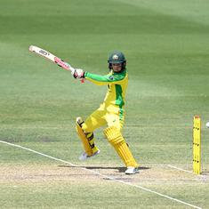 Australian women's cricket team equal world record for most consecutive ODI wins after beating NZ