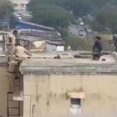 Watch: Mumbai Police personnel talk young woman to safety when she was poised to jump from roof