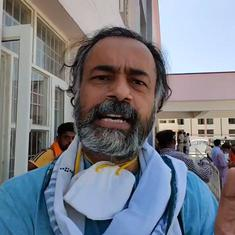 Haryana: Yogendra Yadav, over 100 farmers protesting near deputy CM's house detained