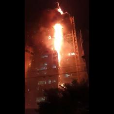 Watch: Massive fire engulfs 33-storeyed building in South Korea