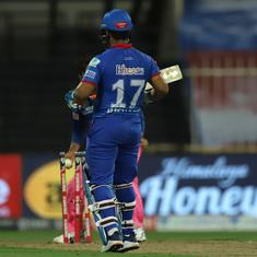 Watch: Rishabh Pant's run out in DC's match against RR – a bizarre dismissal in IPL 2020