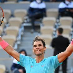 French Open: Nadal made to work hard by Schwartzman but reaches 13th final without dropping a set