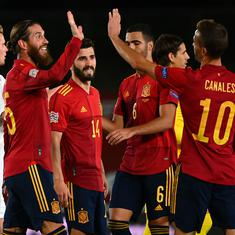 Nations League: Spain pounce on Xhaka error to beat Switzerland, workmanlike Germany see off Ukraine