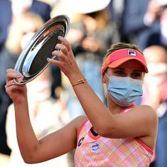 French Open: Sofia Kenin says leg injury disrupted hopes of first-ever Roland Garros title