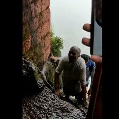 Watch: 68-year-old woman in a sari climbs up Harihar Fort in Maharashtra