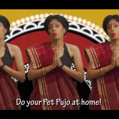 Durga Puja: Watch 'Bengali aunty' Sawan Dutta's catchy song on festive eating during Covid-19