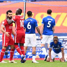 Premier League: Late VAR call denies Liverpool as Everton rally in dramatic Merseyside derby draw
