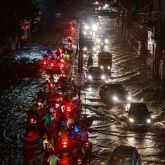 In photos: Heavy showers in Hyderabad cause traffic jams, water-logging in several areas
