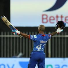 IPL 2020: Shikhar Dhawan's ton against CSK showed that luck favours the brave