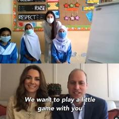 Watch: British royals Kate Middleton, Prince William play Pictionary with Islamabad school students