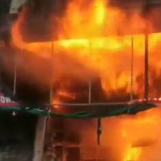 Watch: Huge fires destroy two separate shops in Karnataka