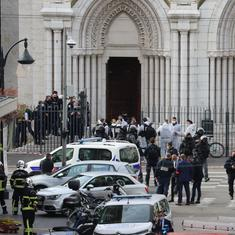 Three dead in knife attack at French church, PM raises security threat level to highest