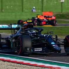 Bottas snatches pole from team-mate Hamilton with a dramatic late lap on F1's return to Imola