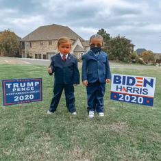 Watch: Twin girls in Oklahoma, US dress as Donald Trump and Joe Biden for Halloween 2020
