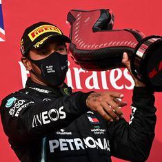 Formula One: Lewis Hamilton wins Imola GP as Mercedes secure record constructors' title