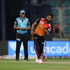 Watch: Sunrisers pacer Natarajan dismisses well-set AB de Villiers with a stunning yorker