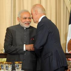 Modi and Joe Biden will speak to each other at a 'mutually convenient time', says foreign ministry