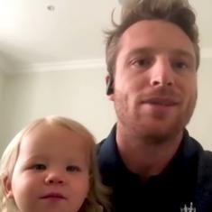 Watch: Daughter interrupts British cricketer Jos Buttler's live interview